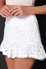 Traffic in the Sky Ivory Lace Shorts at Lulus.com!