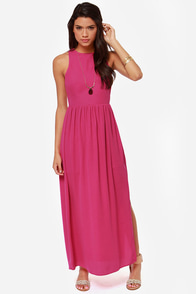 Chemical Reaction Magenta Maxi Dress at Lulus.com!