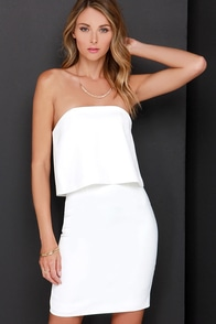 Keepsake Keep Watch Ivory Strapless Dress at Lulus.com!