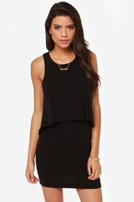 Tier-ie Indiana Sleeveless Black Dress at Lulus.com!