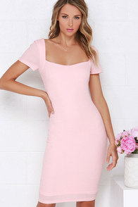 Photo Opportunist Blush Pink Bodycon Midi Dress at Lulus.com!