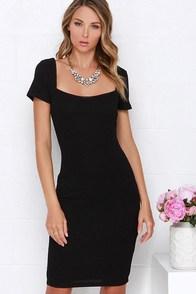 Photo Opportunist Black Bodycon Midi Dress at Lulus.com!