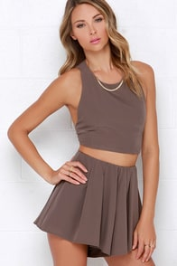 Do a Double Take Taupe Two-Piece Set at Lulus.com!
