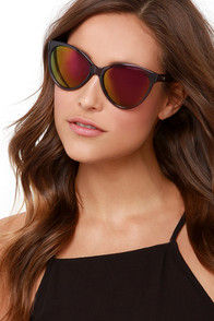 Quay I Love Lucy Grey Mirrored Sunglasses at Lulus.com!
