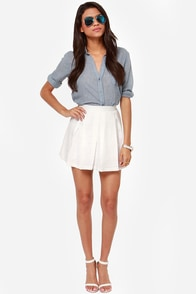 Croquet by the Bay Ivory Skirt at Lulus.com!