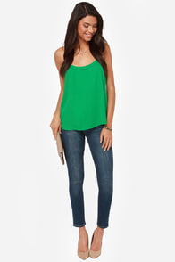 Darling O'Gill Green Tank Top at Lulus.com!