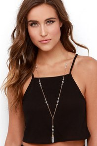 Magic Lessons Clear Crystal Necklace at Lulus.com!