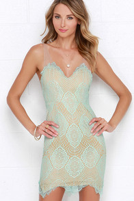 Luxe for Life Mint Lace Dress at Lulus.com!