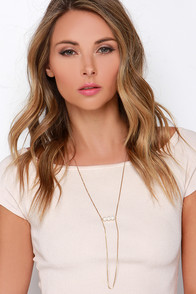 Attention to Detail Gold and Pearl Necklace at Lulus.com!