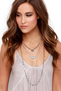 Match your Mood Silver Layered Necklace at Lulus.com!