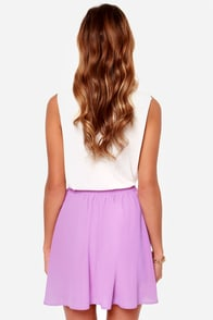 Goodnight Kiss Orchid Purple Skirt at Lulus.com!