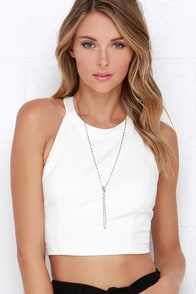 You're Swell Ivory Crop Top at Lulus.com!