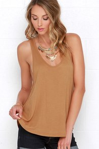 Obey Patti Tan Tank Top at Lulus.com!