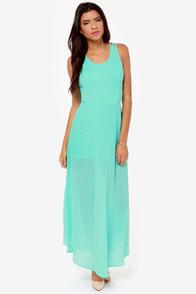 Sizzle and Pop Backless Aqua Maxi Dress at Lulus.com!