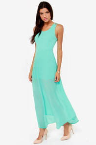 Sizzle and Pop Backless Aqua Maxi Dress at Lulus.com!