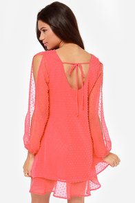 Lucy Love Tallulah Coral Pink Shift Dress at Lulus.com!