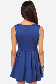 LULUS Exclusive Good Mood Royal Blue Skater Dress at Lulus.com!