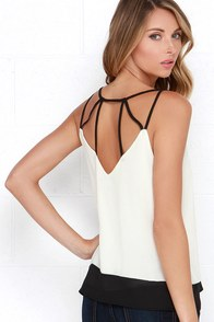 That's the Spirit Black and Ivory Top at Lulus.com!
