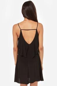 Let It Burn Cutout Black Dress at Lulus.com!