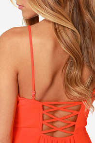 Show Me Love Cutout Bright Red Dress at Lulus.com!