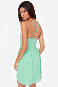 Flow Along Cutout Mint Green Dress at Lulus.com!