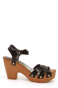 Madden Girl Cindiee Black Platform High Heel Sandals at Lulus.com!