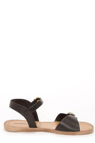 Soda Dino Black Buckled Ankle Strap Sandals at Lulus.com!