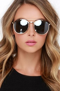 Quay Sundance .7.2 Green and Gold Sunglasses at Lulus.com!