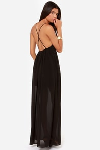Oh So Coy Backless Black Maxi Dress at Lulus.com!