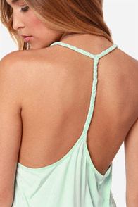Volcom Simmer Down Crochet Mint Tank Top at Lulus.com!