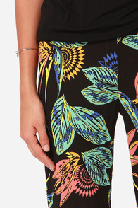 Volcom Bondi Black Print Pants at Lulus.com!