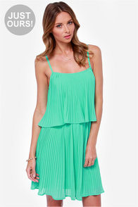 LULUS Exclusive As You Swish Pleated Mint Green Dress at Lulus.com!