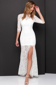 Only One Ivory Lace Maxi Dress at Lulus.com!