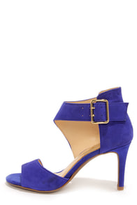 Jessica Simpson Marrionn Symphony Blue Suede Leather Heels