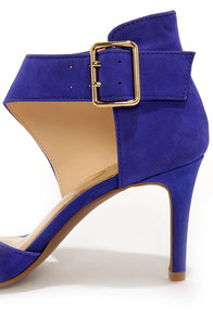 Jessica Simpson Marrionn Symphony Blue Suede Leather Heels at Lulus.com!