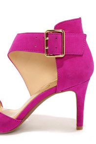 Jessica Simpson Marrionn Twilight Magenta Suede Leather Heels at Lulus.com!