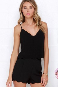 Spark in the Dark Black Two-Piece Set at Lulus.com!