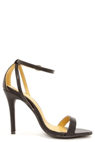 Shoe Republic LA Najana Black Ankle Strap Heels at Lulus.com!