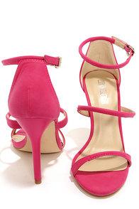 Fiebiger J'Adore Pink Ankle Strap Heels at Lulus.com!
