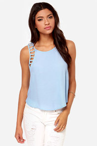 All for Love Cutout Periwinkle Top at Lulus.com!