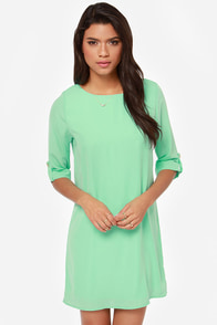 Love You More Mint Shift Dress at Lulus.com!
