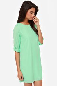 Love You More Mint Shift Dress at Lulus.com!