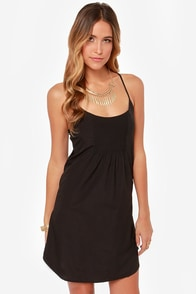 Hurley Teddi Black Sheath Dress at Lulus.com!