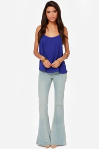 Darling O'Gill Royal Blue Tank Top at Lulus.com!