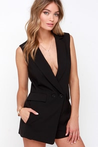 Whistle While You Werk Black Romper at Lulus.com!