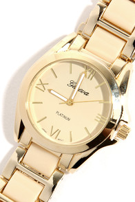 Tick, Tick, Boom Cream and Gold Watch at Lulus.com!