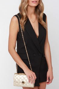 Evening Antics Gold Quilted Clutch at Lulus.com!