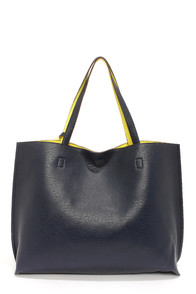 Switch it Up Reversible Navy Blue Tote at Lulus.com!
