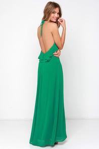 Ruffle Force Green Maxi Dress at Lulus.com!