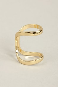 Twin Big Gold Ring at Lulus.com!